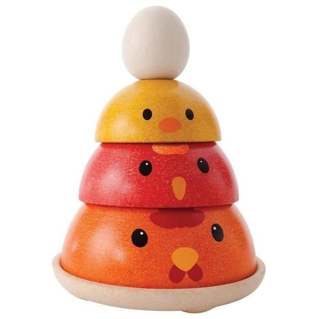 Shape Sorters And Stackers - Plan Toys Chicken Nesting