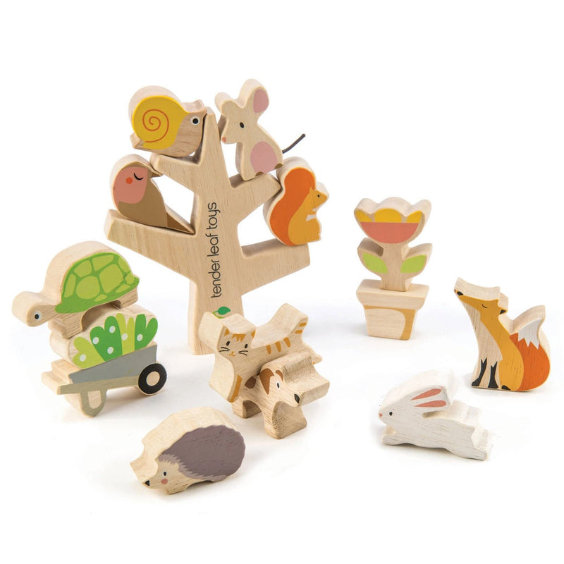 Shape Sorters And Stackers - Tender Leaf Toys Stacking Garden Friends
