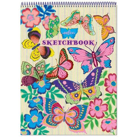 eeBoo Fluorescent Butterfly Sketchbook - Sketchbooks - Anglo Dutch Pools and Toys