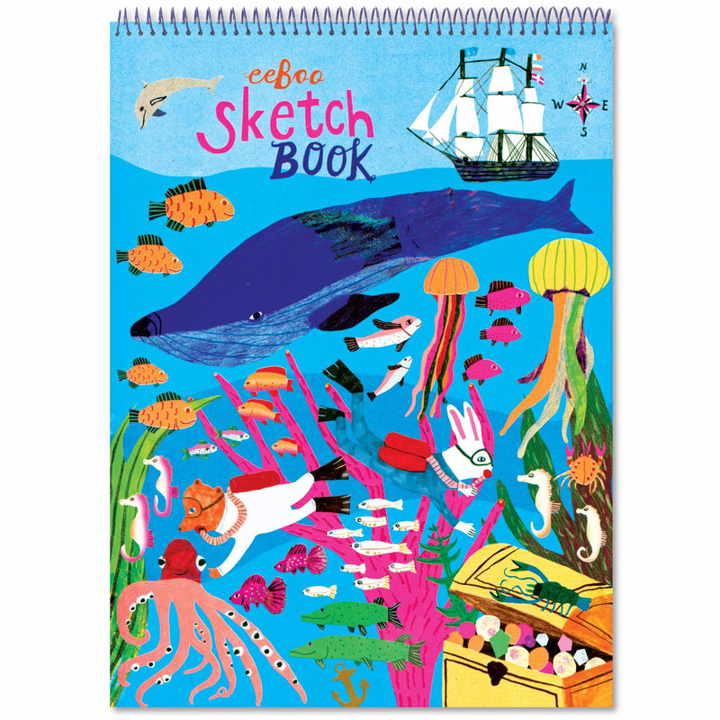 Sketchbooks - EeBoo Otters In The Sea