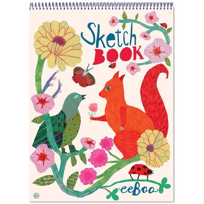 eeBoo Squirrel and Bird Sketchbook - Sketchbooks - Anglo Dutch Pools and Toys