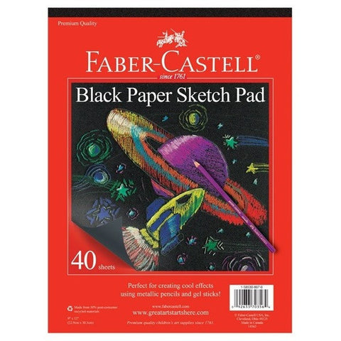 Faber-Castell Black Paper Sketch Pad - Sketchbooks - Anglo Dutch Pools and Toys