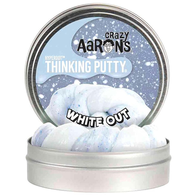 Slime And Putty Toys - Crazy Aaron's Limited Edition White Out Thinking Putty