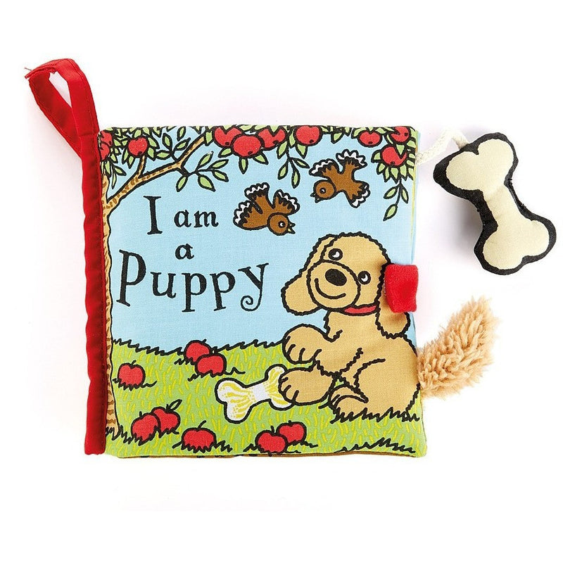 Jellycat I am a Puppy Activity Soft Book - Soft Books - Anglo Dutch Pools and Toys