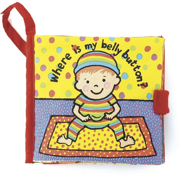 Jellycat Where is My Bellybutton Soft Book - Soft Books - Anglo Dutch Pools and Toys
