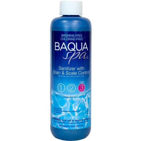 Spa Chlorine Alternatives - Baqua Spa Sanitizer With Stain & Scale Control (1 Pt)