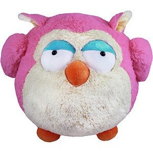 "Squishable Pink Owl 15"" - Squishables - Anglo Dutch Pools and Toys"