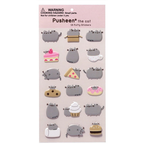 Pusheen Puffy Bubble sticker sheet - Stickers and Sticker Books - Anglo Dutch Pools and Toys