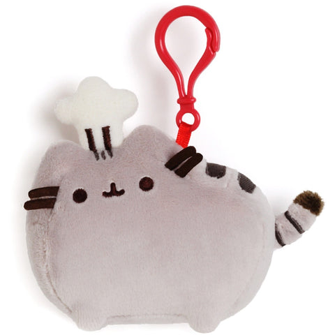 "Gund Pusheen Chef Hat Clip 4.5"" - Licensed Plush Characters - Anglo Dutch Pools and Toys"