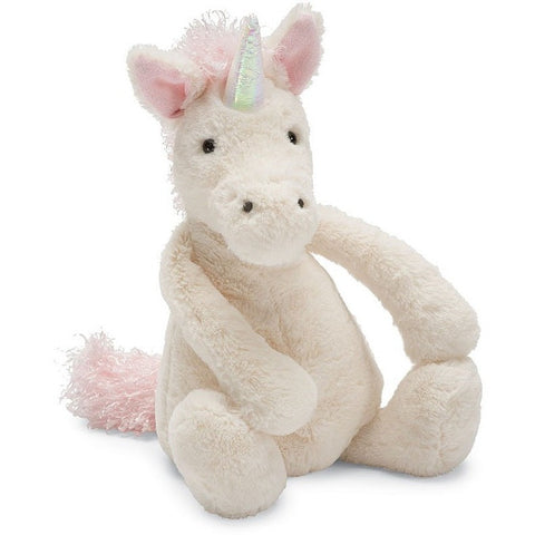 "Jellycat Bashful Unicorn- Small- 7""- Anglo Dutch Pools & Toys  - 1"