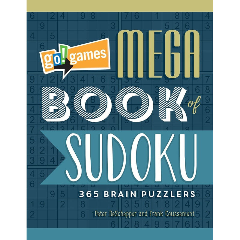 Sudoku, Crosswords, And Wordsearches - Go!Games Mega Book Of Sudoku: 365 Brain Puzzlers