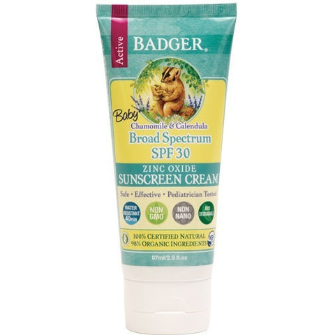 Badger SPF 30 Baby Sunscreen Cream- - Anglo Dutch Pools & Toys