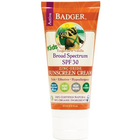 Badger SPF 30 Kids Sunscreen Cream- - Anglo Dutch Pools & Toys