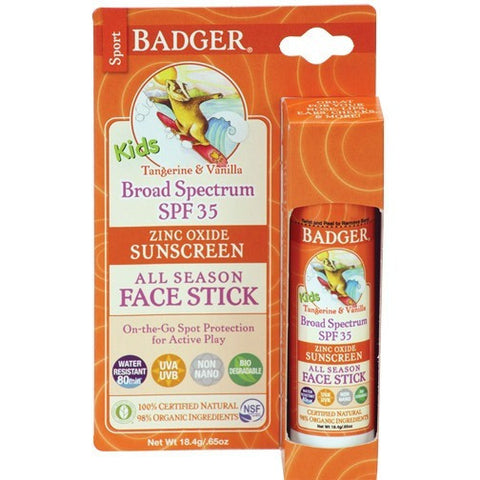Badger SPF 35 Kids Sport Sunscreen Face Stick- - Anglo Dutch Pools & Toys