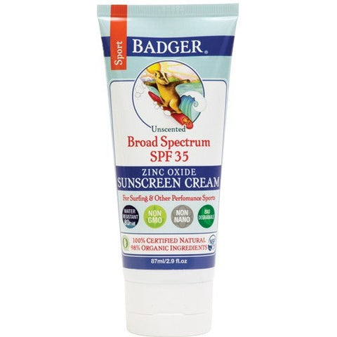 Badger SPF 35 Sport Sunscreen Cream- - Anglo Dutch Pools & Toys