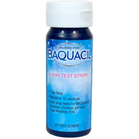 Testing Kits And Strips - Baquacil 4 Way Test Strips (25 Count)