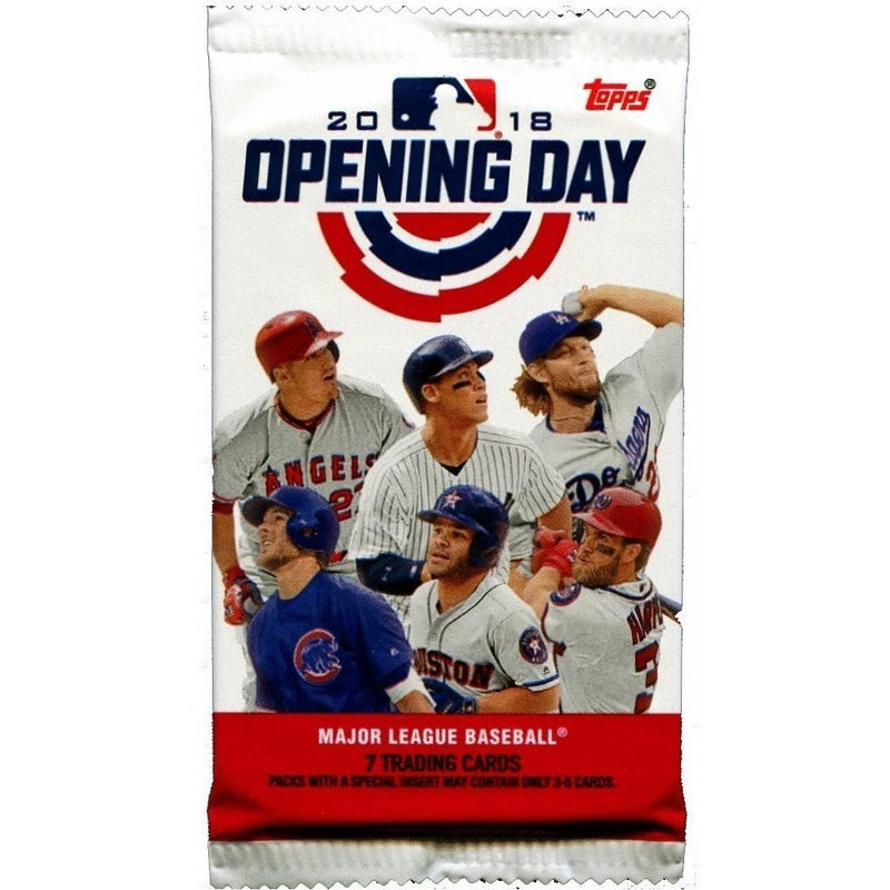 Trading Cards - Topps 2018 Opening Day Hobby Baseball Cards (1 Pack)