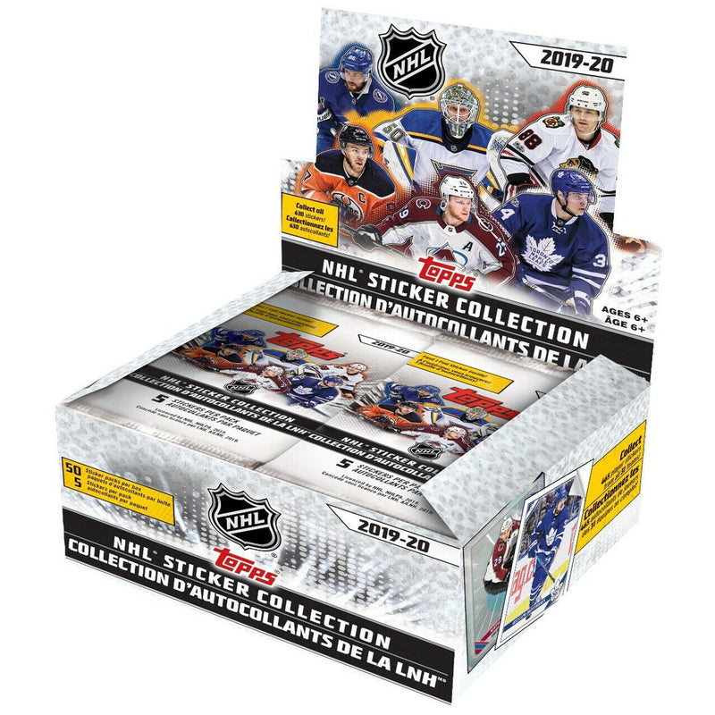Trading Cards - Topps 2019-20 NHL Hockey Sticker Collection Box (50 Packs)