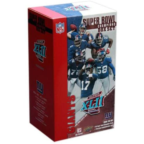 Trading Cards - Upper Deck New York Giants Super Bowl XLII Champions Commemorative Box Set