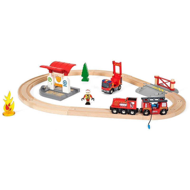 Brio Rescue Firefighter Train Set