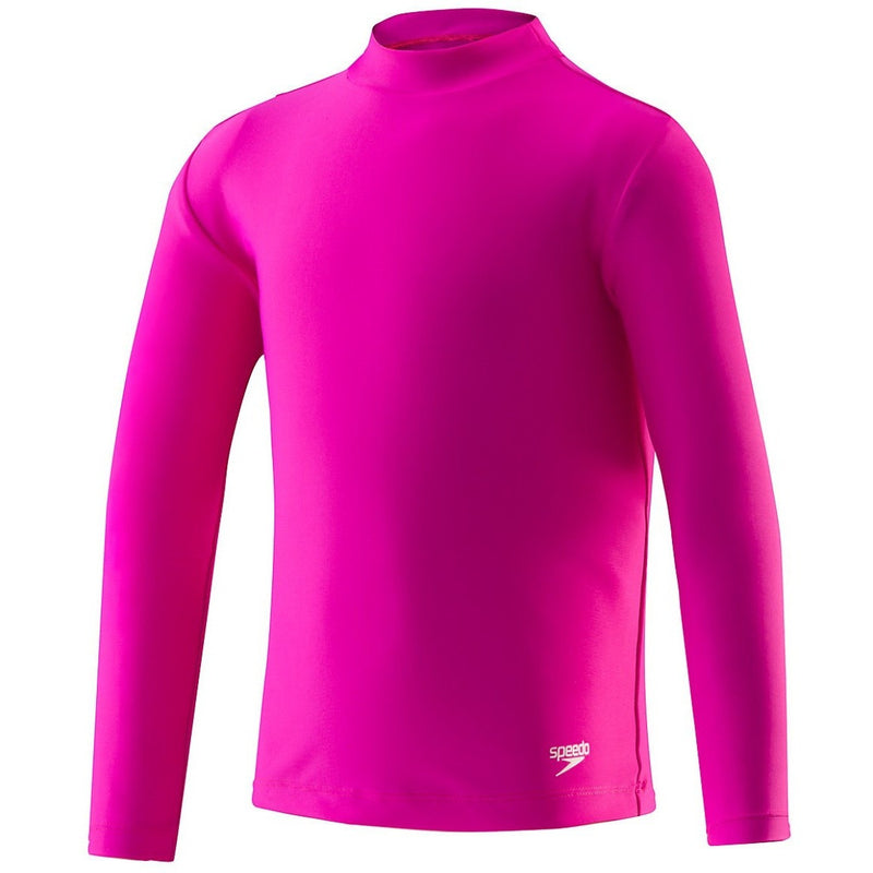Speedo Kids Unisex Long Sleeve Rash Guard- New Blush - Youth Wetsuits and Rash Guards - Anglo Dutch Pools and Toys