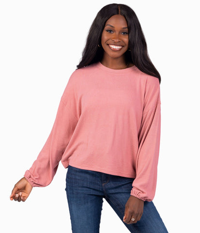 Brushed Bella Pullover - Sable