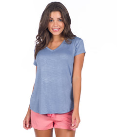 Lizzy Vneck - Country Blue