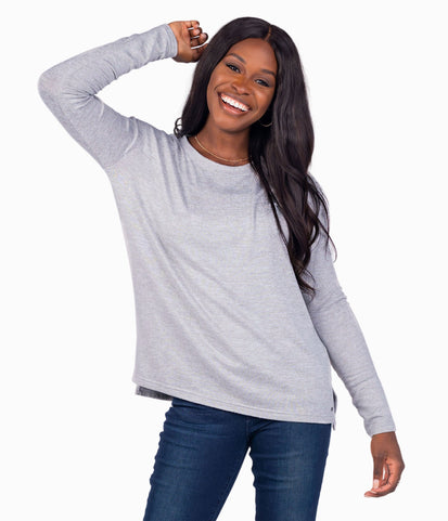 Sincerely Soft Heather Fleece - Frost Gray