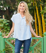 Southern Shirt Fashion Top Captain Blue / SM Sundance Popover