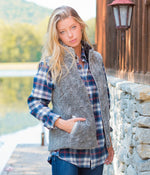 Southern Shirt Outerwear Heathered Sherpa Vest