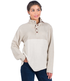 Herringbone Loop Pullover - Safari