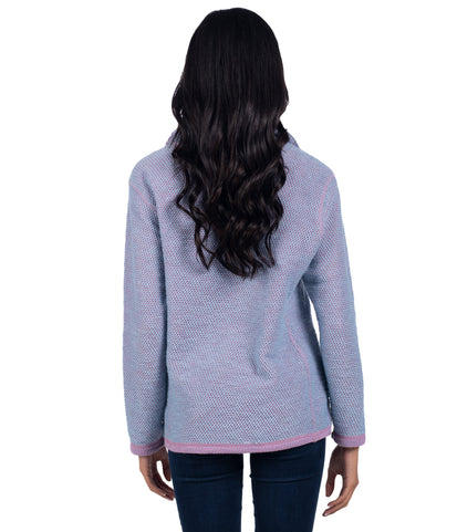 Knobby Knit Qtr Zip - Orchid Haze