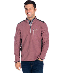 Trailhead Qtr Zip - Red Mahogany