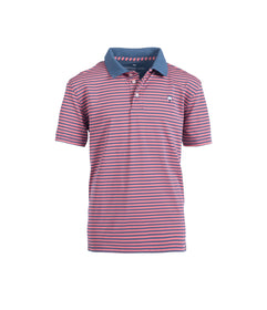 Boys Hilton Stripe Polo - Conch