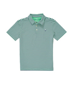Boys Hudson Stripe Polo - Mallard