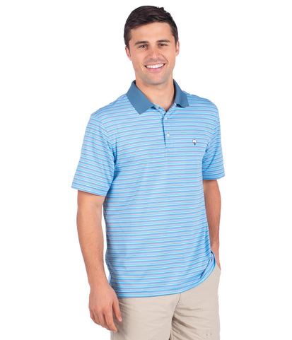 Brunswick Stripe Polo - Tropical Isle