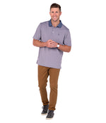 Carson Stripe Polo - River Rock