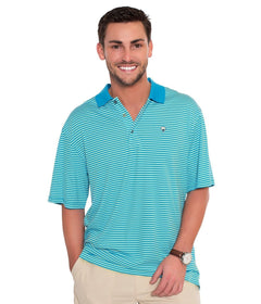Charleston Stripe Polo - Malibu