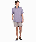 Dawson Stripe Polo - Gray Ridge