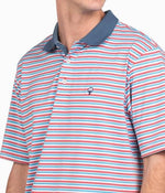 Dawson Stripe Polo - Juicy Fruit