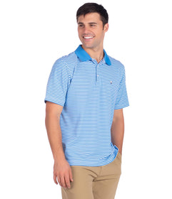 Folly Beach Pique Polo - Marina Blue
