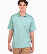 Grayton Heather Polo - Aqua Haze