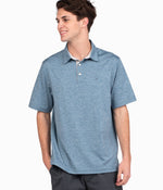 Grayton Heather Polo - Captain Blue