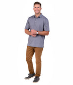 Grayton Heather Polo - Gunmetal
