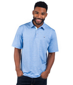 Grayton Heather Polo - Maui Blue