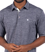 Grayton Heather Polo - Navy