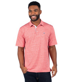 Grayton Heather Polo - Terra Cotta