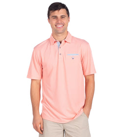 Oxford Performance Pocket Polo - Coral