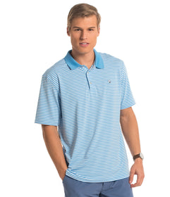 Peabody Stripe Polo - Horizon Blue
