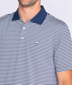 Peabody Stripe Polo - Insignia Navy